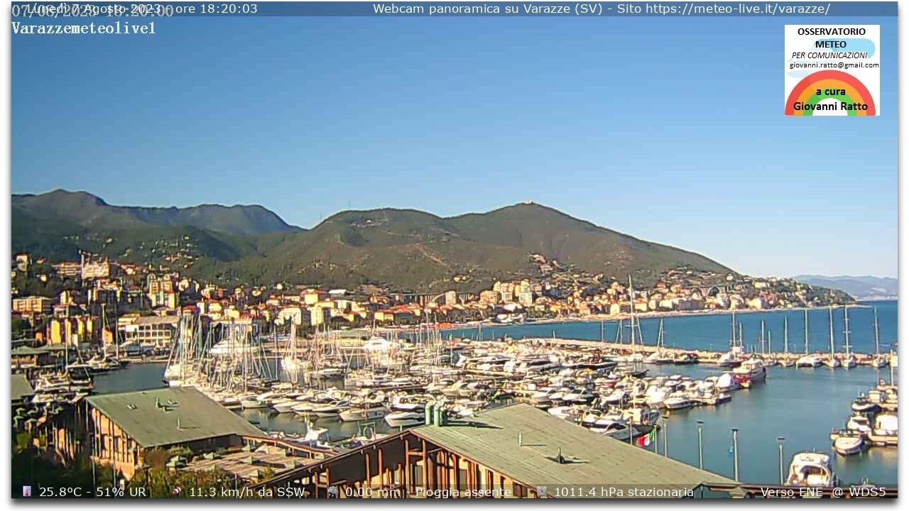 Webcam panoramica dal porto